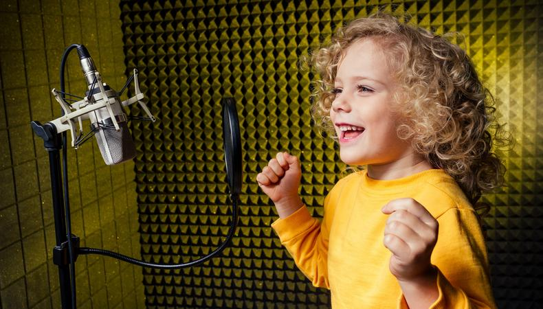 kid preparing for first voiceover job